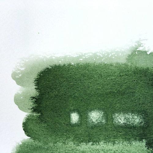 """Las pequeñas manchas blancas rectangulares están realizadas con la técnica de """"levantar"""" la acuarela."""