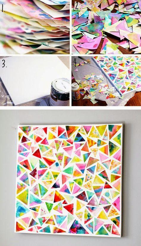 El resultado es muy hermosa, simple pero colorido y lo mejor, es que es súper fácil de hacer!