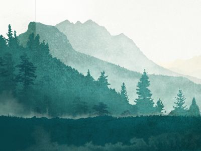 Cómo pintar un paisaje con acuarelas paso a paso. Pintura con perspectiva atmosférica.