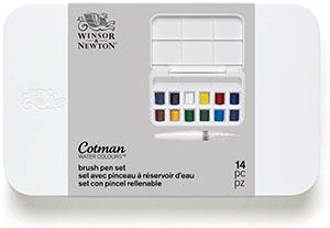 Este  Set de acuarela Cotman de Winsor & Newton está especialmente diseñado para un uso fuera del estudio.