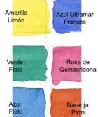 paleta de colores de acuarela limitada
