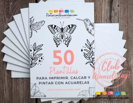 PDF GRATIS CON 50 PLANTILLAS CON DIBUJOS PARA IMPRIMIR, CALCAR Y PINTAR