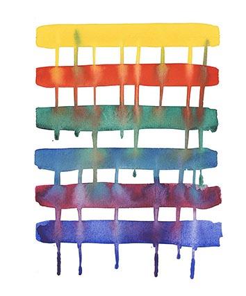 ideas para pintar con acuarelas super fáciles y con pocos materiales